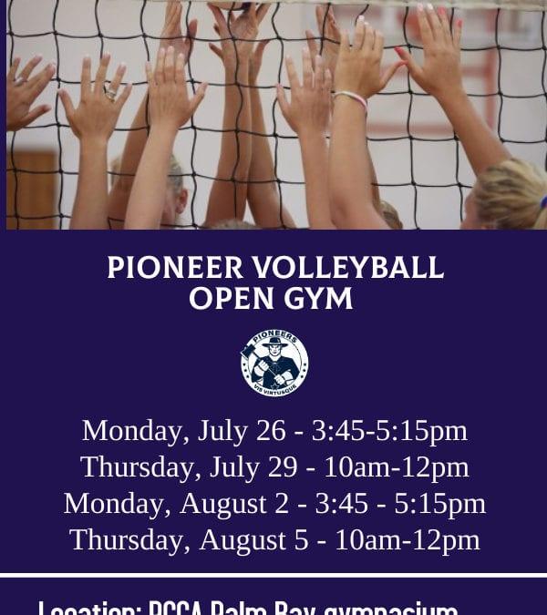 Pioneer Summer Volleyball